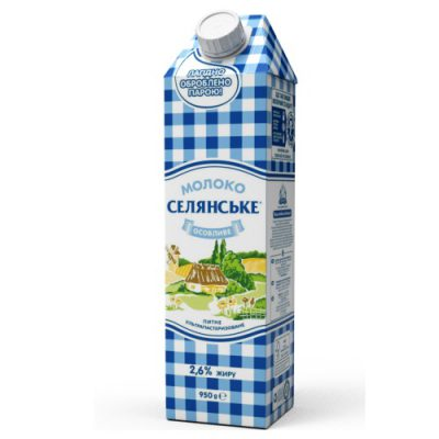 Молоко Селянське 2,6%