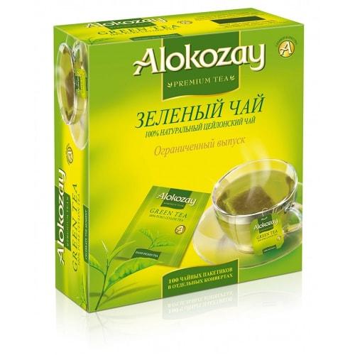 Чай Alokozay зеленый 100 пакетов