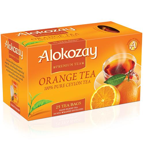 Чай Alokozay черный с апельсином