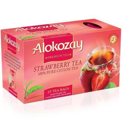 Чай Alokozay черный с клубникой