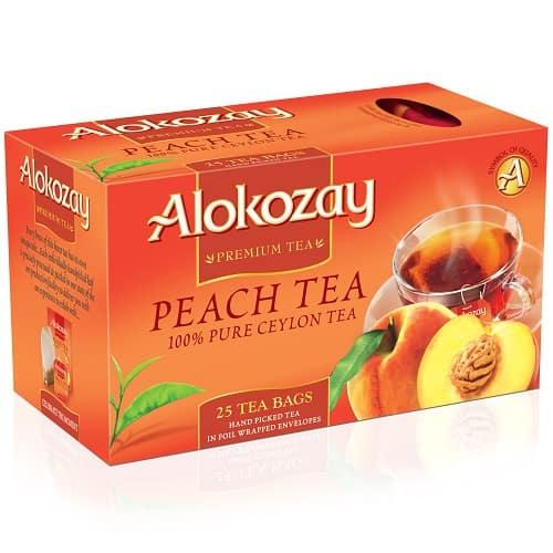 Чай Alokozay черный с персиком