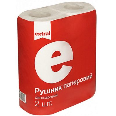 Полотенца Extra белые 2шт. уп.