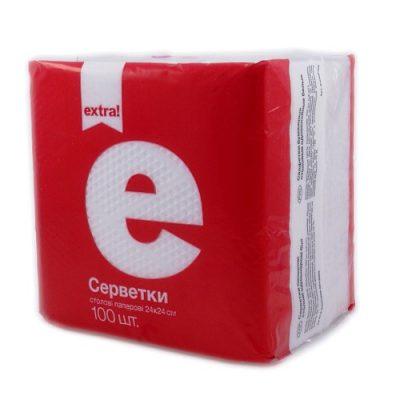 Салфетка Extra белая 100 шт.
