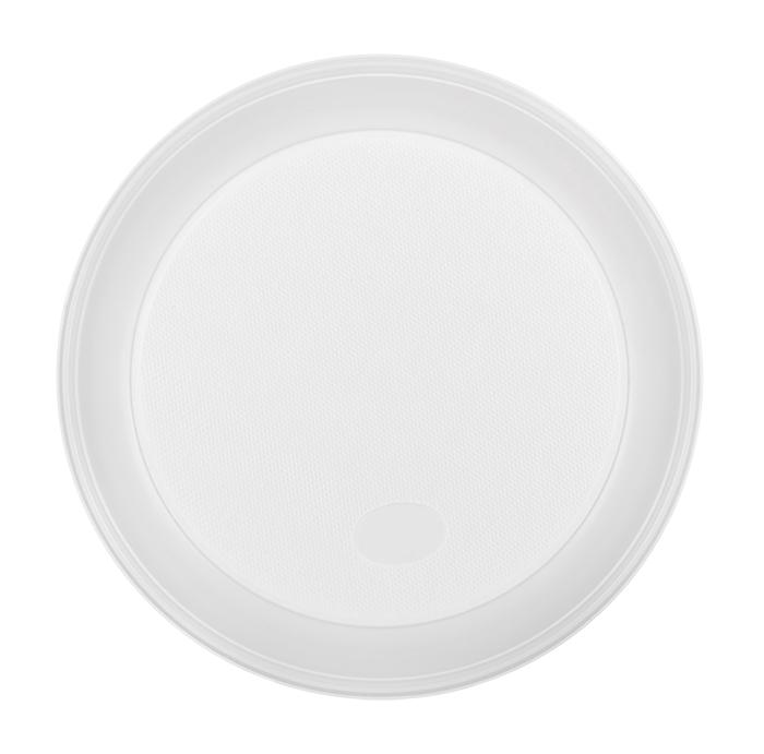Тарелка белая пластик d165 100 шт.