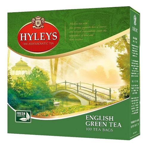 Чай Hyleys English Green 100 пакетов