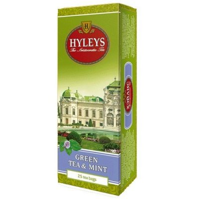 Чай Hyleys Green Tea Mint 25 пакетов