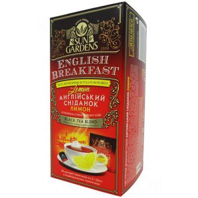 Чай Sun Gardens Английский завтрак лимон 25 пакетов