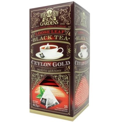 Чай Sun Gardens Золото Цейлона 25 пакетов