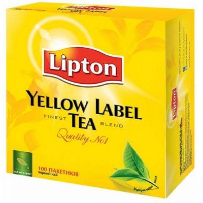 Чай Lipton черный 100 пакетов