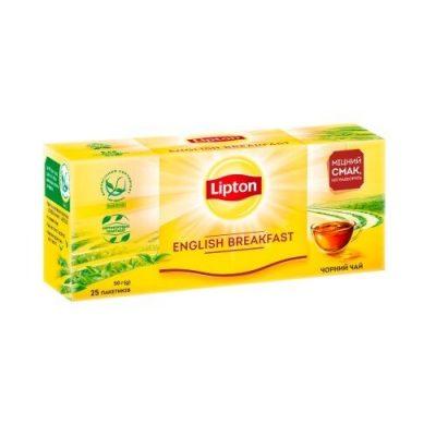 Чай Lipton English Breakfast 25 пакетов