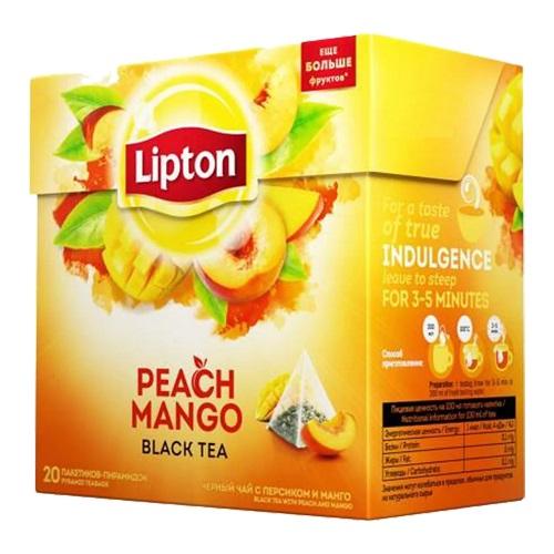 Чай Lipton Peach Mango 20 пирамидок