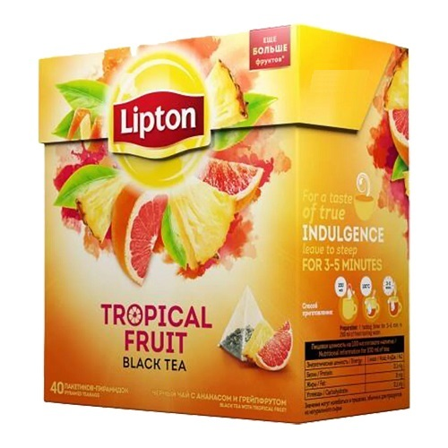 Чай Lipton Tropical Fruit 20 пирамидок