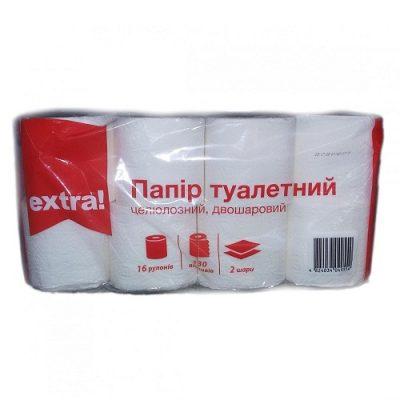 Бумага туалетная Extra 16 шт