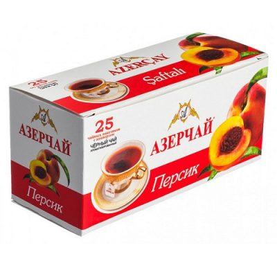 Чай Azercay черный с персиком