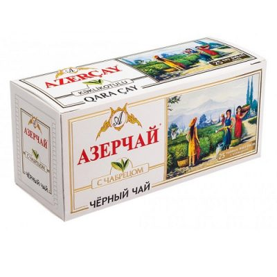 Чай Azercay черный с чабрецом