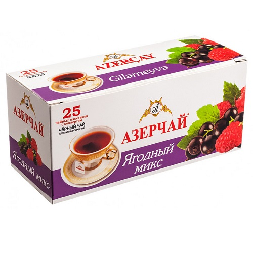 Чай Azercay черный ягодный микс