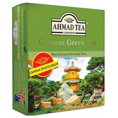 Ahmad Tea Chinese Green 100 пакетов