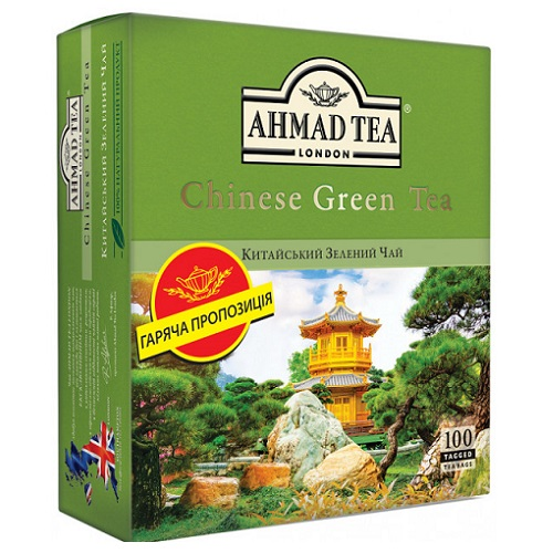 Ahmad Tea Chinese Green 100 пакетов
