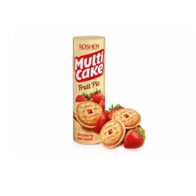 Печенье Рошен Multicake клубника-крем 180 г