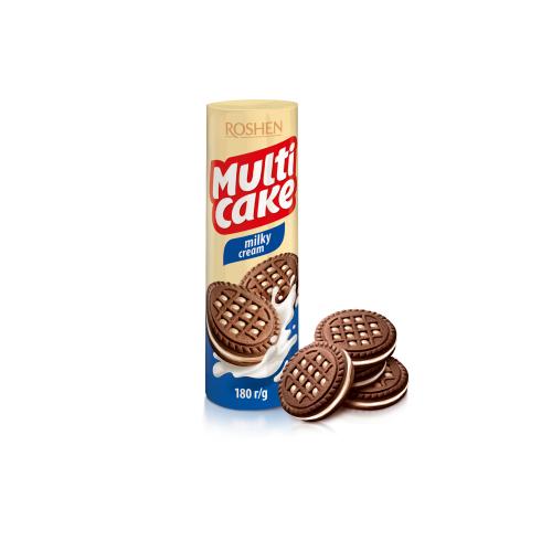Печенье Рошен Multicake молоко-крем 180 г