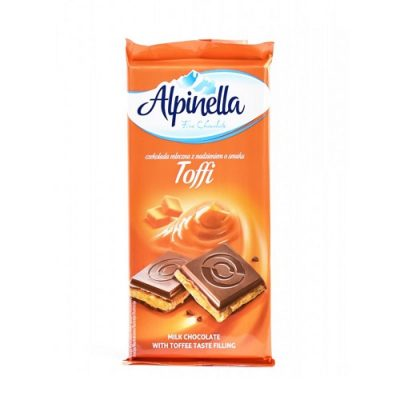 Шоколад молочный Alpinella карамель 90 г