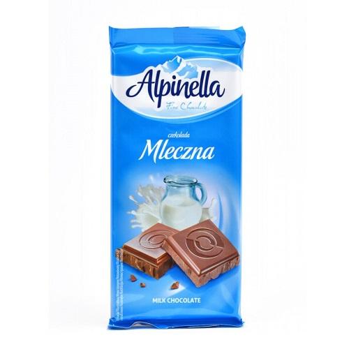 Шоколад молочный Alpinella 90 г