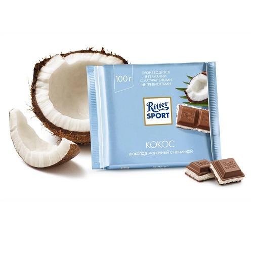 Шоколад молочный Ritter Sport кокос 100 г