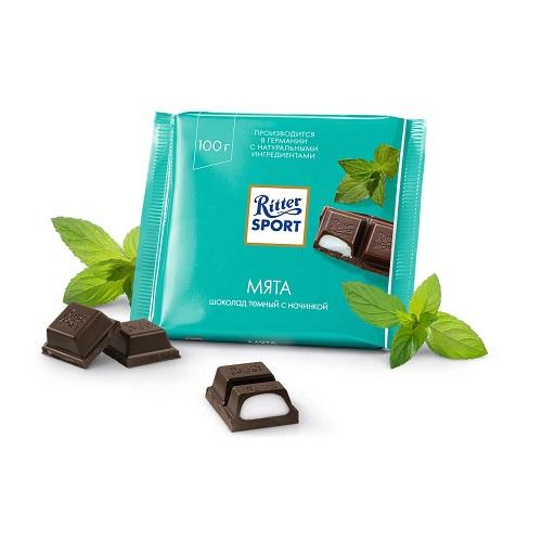Шоколад темный Ritter Sport мята 100 г