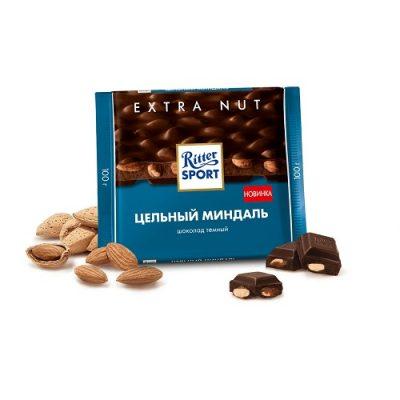 Шоколад темный Ritter Sport цельный миндаль 100 г