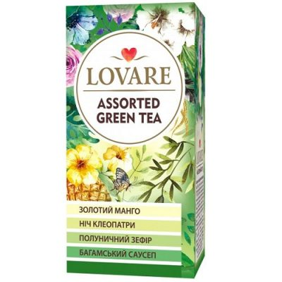 Чай Lovare Assorted Green Tea 24 пакетов